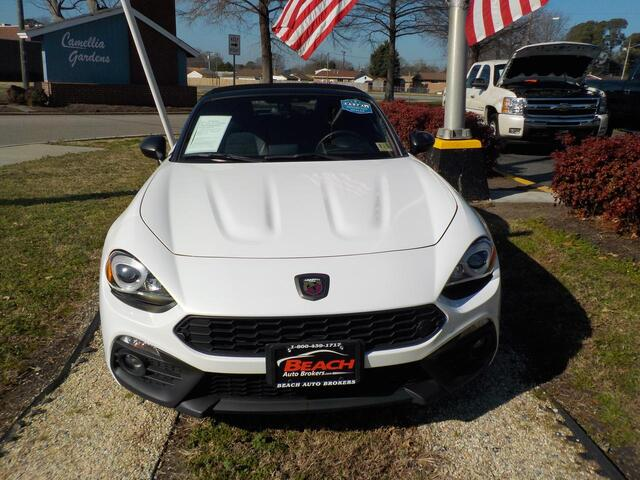 2017 FIAT 124 SPIDER ABARTH CONVERTIBLE, WHOLESALE PRICE BELOW NADA TRADE, NAVIGATION, HEATED LEATHER, 1 LOCAL OWNER! Norfolk VA