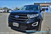 2017 Ford Edge Sport / AWD / Heated & Cooled Leather Seats / Heated Steering Wheel / Panoramic Sunroof / Navigation / Sony Speakers / Bluetooth / Auto Start / Back Up Camera / Blind Spot Alert / Adaptive Steering