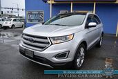 2017 Ford Edge Titanium / AWD / Auto Start / Heated & Cooled Leather Seats / Navigation / Sunroof / Sony Speakers / Blind Spot & Lane Departure Alert / Bluetooth / Back Up Camera / Keyless Entry & Start / 27 MPG / 1-Owner