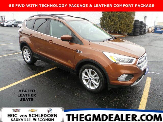 2017 Ford Escape SE FWD 1.5L EcoBoost Technology LeatherComfortPkgs w/HtdLeather 17s RearCamera Milwaukee WI