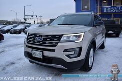 2017_Ford_Explorer_XLT / AWD / Power & Heated Leather Seats / Heated Steering Wheel / Auto Start / Apple CarPlay & Android Auto / Back Up Camera / Rear Captain Chairs / 3rd Row / Seats 6 / Tow Pkg / 1-Owner_ Anchorage AK