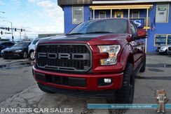 2017_Ford_F-150_Lariat / 4X4 / ROUSH Supercharger Phase 1 600HP / ROUSH Exhaust / 5.0L V8 / 37in Tires / Crew Cab / Heated & Cooled Leather Seats / Panoramic Sunroof / Navigation / Sony Speakers / Auto Start / Bluetooth / Back Up Camera / Tow Pkg_ Anchorage AK