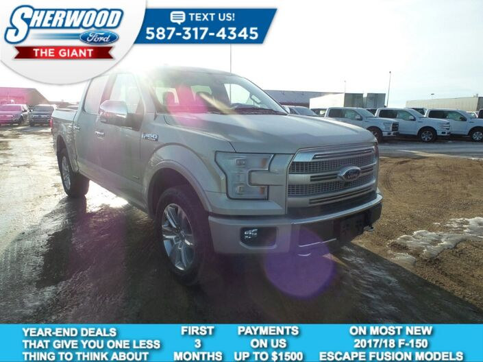 2017 Ford F-150 Platinum Sherwood Park AB