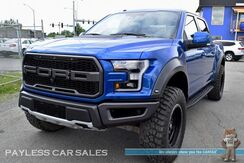 2017_Ford_F-150_Raptor / 4X4 / Crew Cab / Heated & Ventilated Leather Seats / Heated Steering Wheel / Nav / Panoramic Sunroof / Adaptive Cruise Control / Auto Start / FUEL Wheels / 37 Tires / Bluetooth / Blind Spot Alert / Tow Pkg_ Anchorage AK