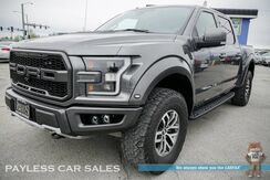 2017_Ford_F-150_Raptor / 4X4 / Crew Cab / Heated & Ventilated Leather Seats / Heated Steering Wheel / Panoramic Sunroof / Navigation / Sony Speakers / Auto Start / Bluetooth / Back Up Camera / Vision X Fog Lamps / Aftermarket Light Bar / Off-Road Camera / Bed Liner_ Anchorage AK
