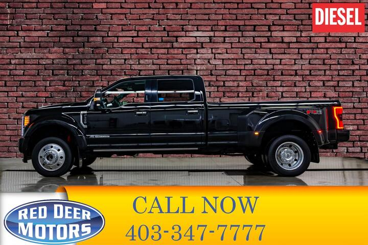 2017 Ford F-450 4x4 Crew Cab Platinum Dually Red Deer AB