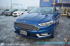 2017_Ford_Fusion_SE / AWD / Power & Heated Leather Seats / Sunroof / Auto Start / Bluetooth / Back Up Camera & Rear Parking Aid / Keyless Entry & Start / Aluminum Wheels / Block Heater / Low Miles_ Anchorage AK