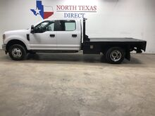 2017_Ford_Super Duty F-350 DRW_Dually 4x4 Crew Flat Bed Bluetooth Towing Chrome Alloys_ Mansfield TX