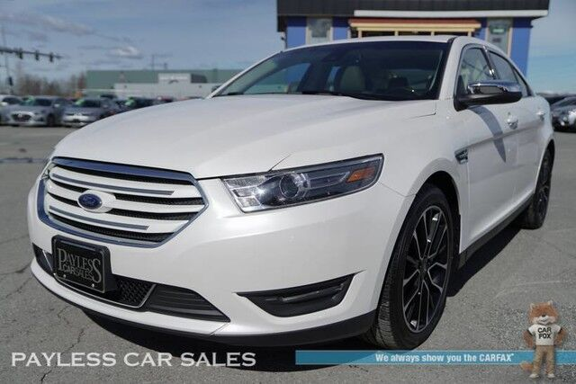 2017 Ford Taurus Limited / AWD / Heated & Ventilated Leather Seats / Heated Steering Wheel / Navigation / Sunroof / Sony Speakers / Auto Start / Microsoft Sync Bluetooth / Back Up Camera / Blind Spot Alert / Only 7k Miles / 1-Owner Anchorage AK