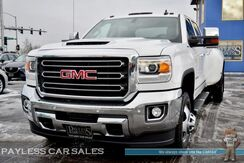 2017_GMC_Sierra 3500HD_SLT / Dually / 4X4 / 6.6L Duramax Turbo Diesel / Power Heated Leather Seats / Heated Steering Wheel / Auto Start / Bose Speakers / Navigation / Bluetooth / Back-Up Camera / Bed Liner / Tow Pkg_ Anchorage AK