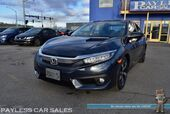 2017 Honda Civic Sedan Touring / Front & Rear Heated Leather Seats / Navigation / Sunroof / Adaptive Cruise Control / Lane Departure & Collision Avoidance / Back Up Camera / 1-Owner