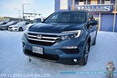 2017 Honda Pilot Touring / AWD / Auto Start / Power & Heated Leather Seats / Sunroof / Navigation / Right Side Lane Watch / Rear Entertainment / Bluetooth / Back Up Camera / 3rd Row / Seats 8 / Block Heater / 26 MPG