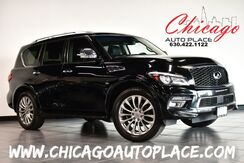 2017_INFINITI_QX80_Limited - 5.6L V8 ENGINE 4 WHEEL DRIVE NAVIGATION TOP VIEW CAMERAS BLACK LEATHER HEATED/COOLED SEATS SUNROOF REAR TVS 3RD ROW KEYLESS GO XENONS_ Bensenville IL