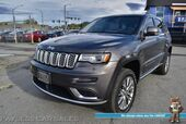 2017 Jeep Grand Cherokee Summit / 4X4 / Active Safety Pkg / 5.7L V8 / Air Suspension / Auto Start / Heated & Cooled Leather Seats / Heated Steering Wheel / Sunroof / Harman Kardon / Navigation / Rear Entertainment / Tow Pkg / Only 27k Miles / 1-Owner
