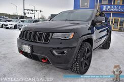 2017_Jeep_Grand Cherokee_Trailhawk / 4X4 / Active Safety Pkg / Air Suspension / Auto Start / Heated Suede Seats & Steering Wheel / Panoramic Sunroof / Alpine Speakers / Navigation / Blind Spot Alert / Adaptive Cruise / Tow Pkg / 25 MPG / 1-Owner_ Anchorage AK