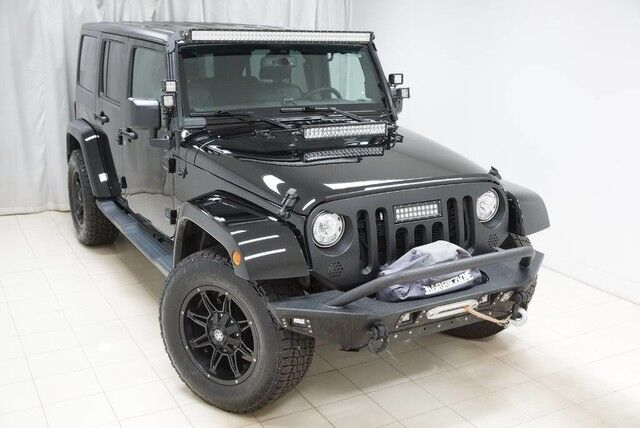 2017 Jeep Wrangler Unlimited Sahara 4WD Navigation Hard Top Tow Hitch Running Boards Winch 1 Owner Avenel NJ