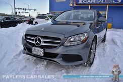 2017_Mercedes-Benz_C 300_4Matic AWD / Premium 1 Pkg / Power & Heated Leather Seats / Panoramic Sunroof / Blind Spot Assist / Bluetooth / Back Up Camera / Keyless GO / Aluminum Wheels / Low Miles / 1-Owner_ Anchorage AK