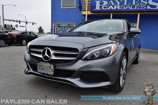 2017 Mercedes-Benz C 300 Sport 4Matic AWD / Turbocharged / Power & Heated Leather Seats / Burmester Speakers / Navigation / Panoramic Sunroof / Bluetooth / Blind Spot Monitor / Back Up Camera / Keyless Entry & Start / 31 MPG / Only 16k Miles / 1-Owner Anchorage AK