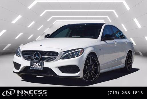 2017 Mercedes-Benz C-Class AMG C 43 Night Package, Electric Trunk Close, Keyless Go, Blind Spot Assist, Panorama, Navigation. Houston TX
