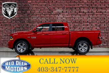 2017_Ram_1500_4x4 Crew Cab Sport Leather Roof Nav_ Red Deer AB