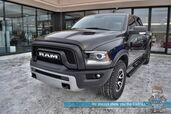 2017 Ram 1500 Rebel / 4X4 / Crew Cab / Heated Leather Trimmed Seats & Steering Wheel / Navigation / Air Suspension / Auto Start / Sunroof / Alpine Speakers / Keyless Entry & Start / Tonneau Cover / Bed Liner / Tow Pkg / 1-Owner