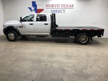 2017_Ram_5500 Chassis Cab_Tradesman 4x4 Diesel Dually Aisin Crew Flat Bed Bluetooth_ Mansfield TX