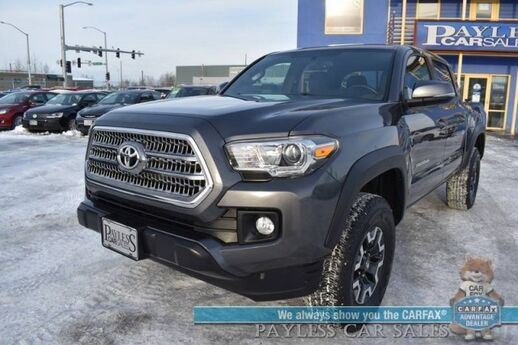 2017 Toyota Tacoma TRD Off Road / 4X4 / Double Cab / Automatic / Auto Start / Navigation / Bluetooth / Back Up Camera / Bed Liner / Tow Pkg / Block Heater / 20 MPG / 1-Owner Anchorage AK
