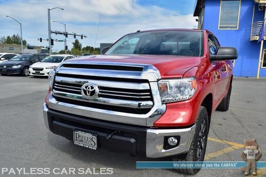 2017 Toyota Tundra SR5 / TRD Off Road Pkg / 4X4 / 5.7L V8 / Double Cab / Navigation / Power Driver's Seat / Bluetooth / Back Up Camera / Cruise Control / Bed Liner / Block Heater / Low Miles / Tow Pkg / 1-Owner Anchorage AK