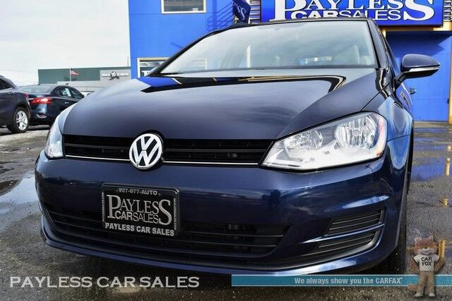 2017 Volkswagen Golf SportWagen S / Automatic / Bluetooth / Back-Up Camera / Cruise Control / USB & AUX Jacks / 34 MPG /1-Owner / Only 7K Miles / 1-Owner Anchorage AK