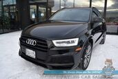 2018 Audi Q3 Sport Premium Plus / S-Line / AWD / Heated Leather Seats / Panoramic Sunroof / Navigation / Blind Spot Alert / Bluetooth / Back Up Camera / Cruise Control / 28 MPG / 1-Owner