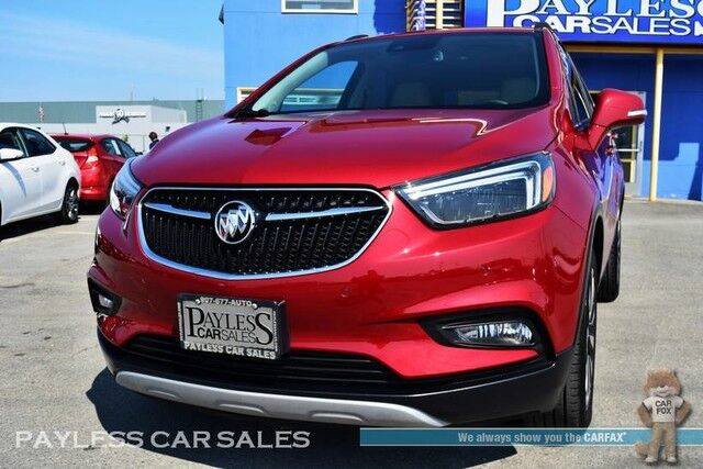 2018 Buick Encore Premium / AWD / Heated & Power Leather Seats / Auto Start / Sunroof / Bose Speakers / Navigation / Blind Spot Assist / Lane Departure Assist / Bluetooth / Back Up Camera / 30 MPG / 1-Owner Anchorage AK