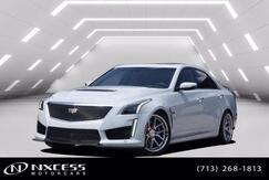 2018_Cadillac_CTS-V Sedan Glacier White Carbon Fiber Package Special V Wheels and Brake Caliper__ Houston TX