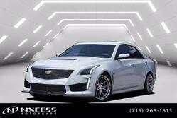 Cadillac CTS-V Sedan Glacier White Carbon Fiber Package Special V Wheels and Brake Caliper  2018
