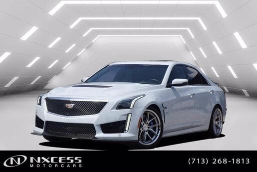 2018 Cadillac No Model CTS-V Sedan Glacier White Carbon Fiber Package! Houston TX