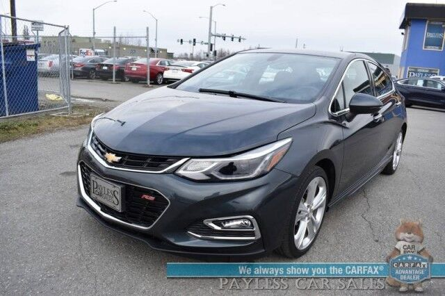 2018 Chevrolet Cruze Premier / RS Pkg / Auto Start / Front & Rear Heated Leather Seats / Heated Steering Wheel / Bluetooth / Back Up Camera / Cruise Control / 37 MPG Anchorage AK