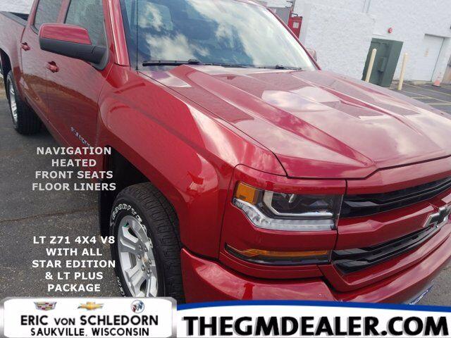 2018 Chevrolet Silverado 1500 LT Z71 Crew Cab 4WD All-StarEdition LT-PlusPkg w/Nav 18s HtdCloth BlackBowties MyLink RearCamera Milwaukee WI