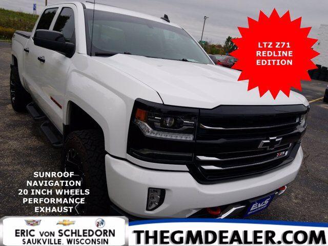 2018 Chevrolet Silverado 1500 LTZ Z71 Crew Cab 4WD RedlineEdition w/Sunroof Nav 20sAftermarketWheels Exhaust HtdMemLthr Milwaukee WI