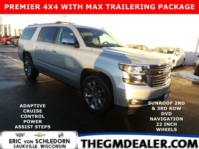 2018 Chevrolet Suburban Premier 4WD MaxTraileringPkg w/AdaptiveCruise PwrRtrctStps Sunroof Nav 2nd&3rdRowDVD HtdCldMemLthr Milwaukee WI