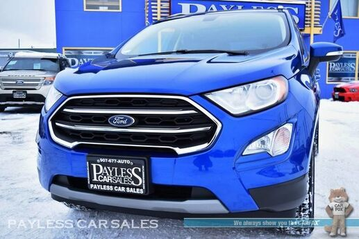 2018 Ford EcoSport Titanium / AWD / Power & Heated Leather Seats / Sunroof / Navigation / Bang & Olufsen Speakers / Microsoft Sync 3 Bluetooth / Back-Up Camera / Blind Spot & Cross Traffic Alert / 29 MPG / 1-Owner Anchorage AK