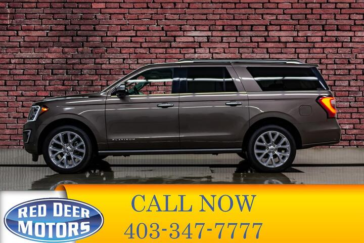 2018 Ford Expedition Platinum Max 4x4 Leather Roof Nav Red Deer AB