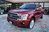 2018 Ford F-150 Limited / 4X4 / Auto Start / Heated & Cooled Massaging Leather Seats / Navigation / B&O Speakers / Sunroof / Adaptive Cruise Control / Lane Departure & Blind Spot Alert / Bed Liner / Tow Pkg / Block Heater