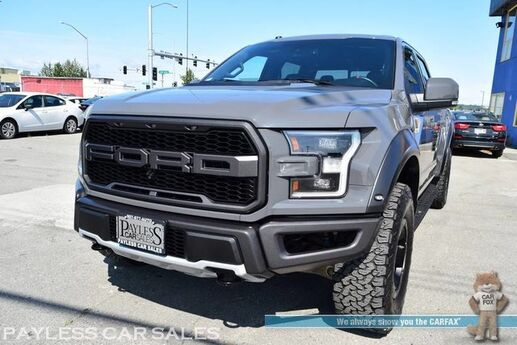 2018 Ford F-150 Raptor / FX4 Pkg / 4X4 / Crew Cab / Heated & Cooled Leather Seats / Heated Steering Wheel / Navigation / Sunroof / B&O Speakers / Driver Alert Pkg / 360 View Camera / Adaptive Cruise / Blind Spot / Tow Pkg / 1-Owner Anchorage AK
