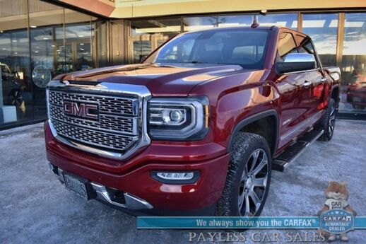 2018 GMC Sierra 1500 Denali / 4X4 / 6.2L V8 / Crew Cab / Auto Start / Heated & Cooled Leather Seats / Heated Steering Wheel / Sunroof / Bose Speakers / Navigation / Bed Liner / Tow Pkg / Only 13k Miles / 1-Owner Anchorage AK
