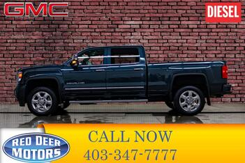 2018_GMC_Sierra 2500HD_4x4 Crew Cab Denali Diesel Leather Roof Nav_ Red Deer AB
