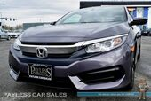 2018 Honda Civic Coupe LX-P / Automatic / Sunroof / Auto Start / Bluetooth / Back Up Camera / Push Button Start / Cruise Control / 39 MPG / 1-Owner
