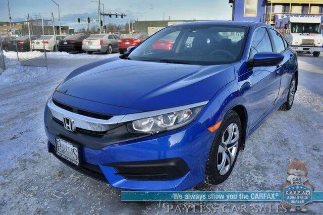 2018 Honda Civic Sedan LX / Automatic / Power Locks & Windows / Bluetooth / Back Up Camera / Cruise Control / 40 MPG / 1-Owner Anchorage AK