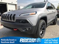 Jeep Cherokee Trailhawk 4x4, Backup Camera, Heated & Cooled Leather Seats, Nav 2018