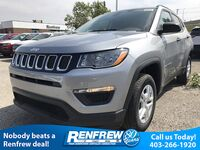 Jeep Compass Sport 4x4, Leather Wrapped Heated Steering Wheel, Backup Camera, Remote Start 2018