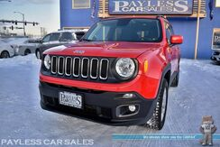 2018_Jeep_Renegade_Latitude / 4X4 / Auto Start / Front Heated Seats / Heated Steering Wheel / Apple CarPlay & Andriod Auto / Back Up Camera / Keyless Entry & Start / Aluminum Wheels / 31 MPG / Low Miles / 1-Owner_ Anchorage AK