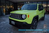 2018 Jeep Renegade Sport / 4X4 / Automatic / Auto Start / Bluetooth / Back Up Camera / Keyless Start / Cruise Control / Block Heater / 29 MPG / Only 12k Miles